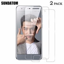 SUNDATOM For Huawei Honor 9 Tempered Glass Screen Protector Film HD Vision Protective Glass