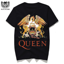 Rocksir 2017 New Rock Band QUEEN Printed Men T-shirt Fashion Cotton Tops Tee Shirt Hipster Homme Men Casual Street Brand Clothes