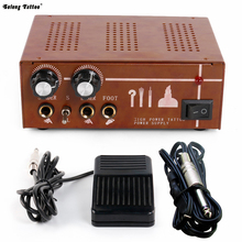 Solong Tattoo Double Output Digital Tattoo Power Supply + Foot Pedal + Clip Cord Kit P130-3(China)