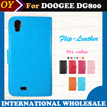 In stock! Dedicated Flip Leather Customize Phone Cover Case For DOOGEE VALENCIA DG800 Card Holder Wallet Business Style