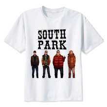 South Park T-Shirt men New Arrival Summer fashion High Quality t shirt casual white print O-Neck Tshirt cool MR805(China)