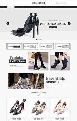 优悦视觉★G193★服装鞋包★欧美黑白女鞋高跟鞋包包女装