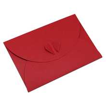 DHL 400Pcs/ Lot 7.2*10.5cm Mini Card Kraft Paper Envelope Heart Interlocking Brown Kraft Paper Party Gift Wishes Card Envelopes(China)