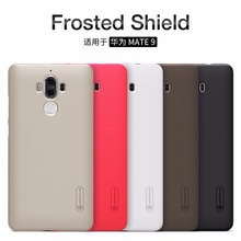 Huawei Mate 9 case Huawei Mate 9 cover NILLKIN Super Frosted Shield matte back cover case with free screen protector(China)