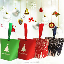 Christmas Square Bottom Gift box,Christmas favor box, christmas decoration, holiday gift box 30PCS/LOT(China)