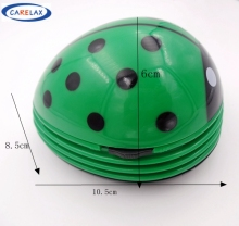 Green Ladybird Mini Keyboard Cleaner Robot Computer Vacuum Cleaner Dust Collector Beetle Clean Tool Electric Battery Operated