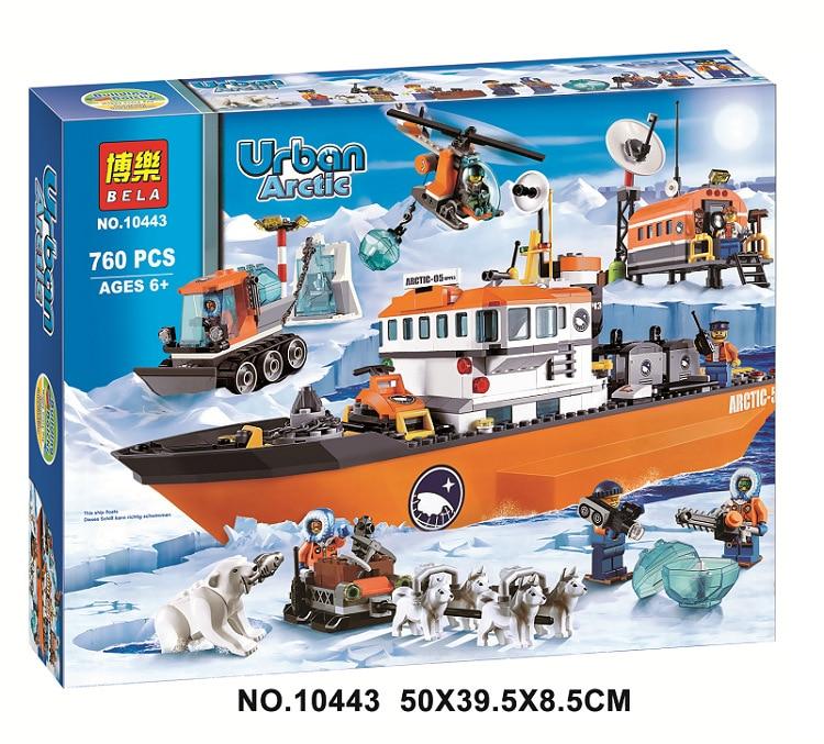 2016 New Bela 10443 760Pcs City Arctic Icebreaker Model Buildinlg Kits  Blocks Brick Toys Compatibe With<br>