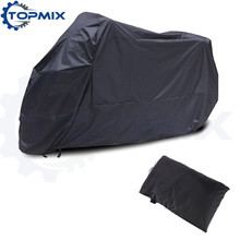 L XL XXL XXXL Black Motorcycle Cover Waterproof Indoor Outdoor Protector Motor Bike Scooter Rain Dustproof Covers 4 Sizes