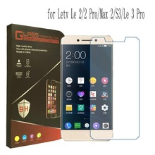 For Letv Le 2/2 Pro/Max 2 Tempered Glass Film For Letv Le 3 Pro LeEco S3 Le3 Pro Ultra Thin Clear Screen Protector With Box(China)