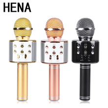 Free shipping Original HENA WS-858K Microphone Wireless Portable KTV USB Play For Xiao mi and Hua wei Computer PC iOS Android(China)
