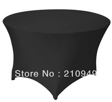 Free Shipping 30pcs 4 ft. Round Stretch Table cover spandex table covers tablecloth waterproof