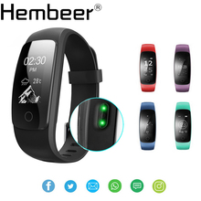 ID107 Plus HR Smartband Music Control Wristband Real-time Heart Rate Monitor Bracelet Bluetooth Smart Band pk fitbits(China)