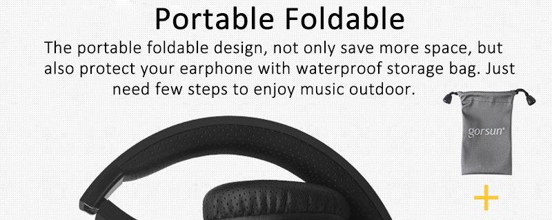 Bluetooth Deep Bass Headphone with 40mm Driver Unit BT 4.1 Headband Wireless Cordless Headset with Microphone for Computer PC