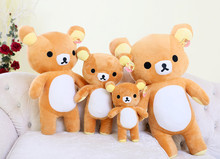 Japanese kawaii rilakkuma plush, big brown teddy bear stuffed animal pillow, kawii throw pillow cushion