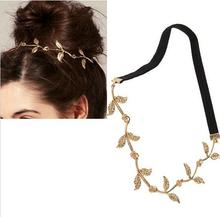 New Gold Elastic Romantic Olive Branch Leaves Headband Hair Accessories Fashion Headwear girl accessories Headdress xth035