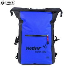 Gameit 25L Water Resistant Dry Bag Roll Top Traveling Rafting Backpack Dry Sack Storage Bag Rafting Swimming Bag Travel Kits