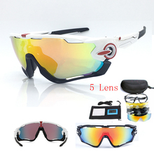 Hot 2017 Cycling Glasses Polarized 5 Lens Cycling Sunglasses Men Women Sport Bike Eyewear UV400 TR90 Goggles Bicycle Sun Glasses