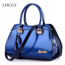 New Arrival Women Handbags Patent Leather Shoulder Bags tassels Totes Office Lady Bags Female Satchels Messenger Bags L0030(China)