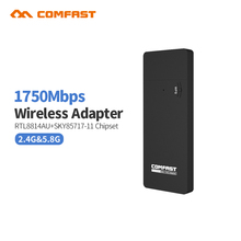 COMFAST CF-917AC 2.4G/5.8GHz Dual Band Support 802.11 ac 1750Mbps USB 3.0 WI-FI WIFI WIRELESS ADAPTER AP Repeater Network Cards(China)