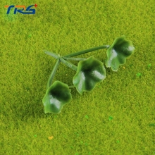 20pcs/lot model artificial ABS plastic plant grass Sand table flowers lotus leaves landscape architecture DIY scene(China)