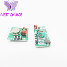 Free Shopping 1Lot= 1 pair (2pcs) 433Mhz RF transmitter and receiver Module link kit for Arduino/ARM/MCU WL diy 433mhz wireless