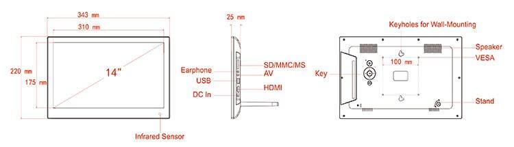 14 inch product chart-aliexpress