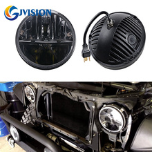 Hot Sale Round 36W 7 INCH LED Headlight H4 Motorcycle Projector headlamp for Jeep Wrangler  JK 97-16