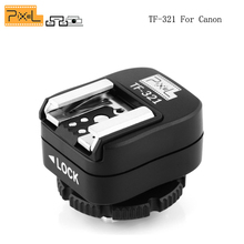 Pixel TF-321 Flash Speedlite Light Hot Shoe E-TTL Adapter Convert with Extra PC Sync Port For Canon EOS DSLR Camera
