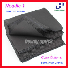 220gsm 100pcs Black Neddle1 175x145mm glasses Lens cleaning cloth lens microfiber cleaning cloth Free Shipping(China)