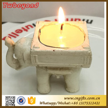 100pcs/lot Wedding Decoration party favors Lucky Elephant Antique-Ivory Candle Holder(China)