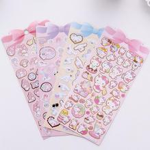 Gilding Cinnamoroll Kitty Melody Twin Star Decorative Washi Stickers Scrapbooking Stick Label Diary Stationery Album Stickers(China)