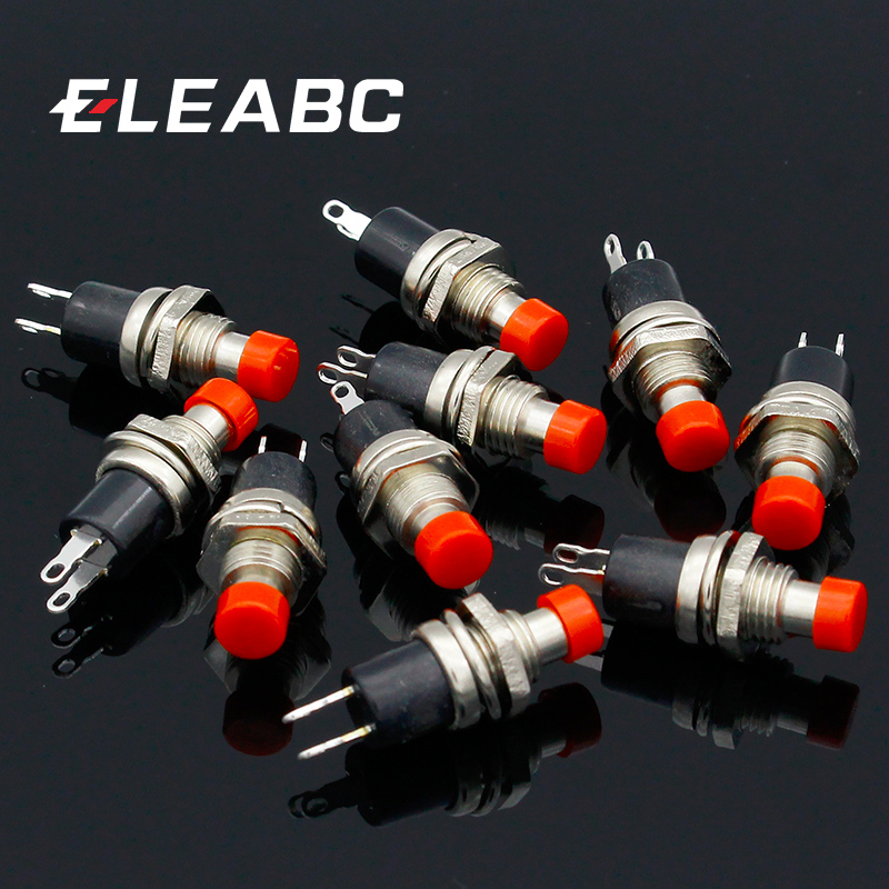 10pcs  NO Normally Open Mini Momentary Spring Return Push Button Switches Red