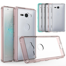 Buy Ultra Thin Clear Case TPU Frame & Hard PC Back Anti Scratch Shockproof Transparent Cover Sony Xperia XZ2 Compact H8314 H8324 for $2.39 in AliExpress store