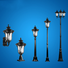 Classical Garden Light Wall Lamp Waterproof Stright Lights Street Lights Landscape Lamp Outdoor Column Head High Pole Lamp(China)