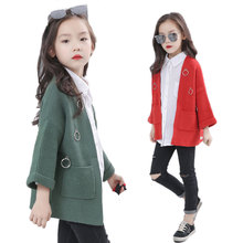 V-TREE Autumn and spring geometric children outerwear kids jackets & knit coats baby clothing cardigan jackets for girls(China)
