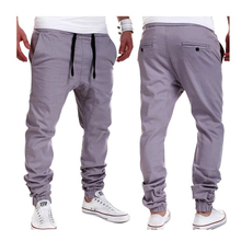 Men's Casual Leisure pants men pantalons chandal homme solid stylish sweatpants jogger pants men's fashion pantacourt homme(China)