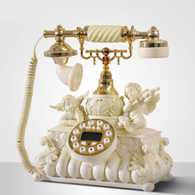 Fashion phone home wired telephone antique vintage fashion phone Redial / Hands-free /blue backlit Caller ID(China)