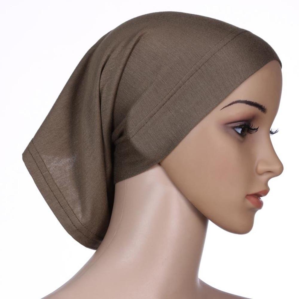 ROPALIA Women Fashion Islamic Hijab Cap Scarf Tube Bonnet Hair Wrap Female  Colorful Head Band 6
