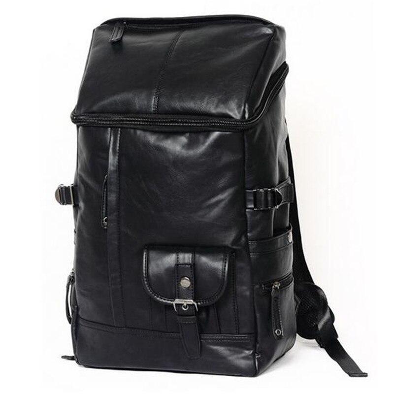 2016 Designer Men Backpacks Pu Leather Rucksack School Bag For Teenagers Black Women Backpack Travel Bolsas Mochila Feminina<br><br>Aliexpress