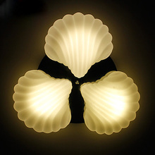 46cm white E27 ceiling lights brief fashion personality 3 pieces shell ceiling lamp lighting droplight fixture bedroom lamps