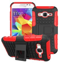 2 in 1 Armor Back Case for Samsung Galaxy Core Prime Cover G360 With Stand Holder Silicone Case for G360 Phone Coque Hoesjes