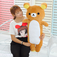 90cm San-x Rilakkuma bear plush toy long bear doll throw pillow gift w5182(China)