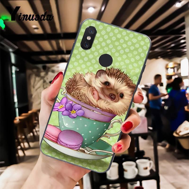 Hedgehog cute in a cup of animal art books