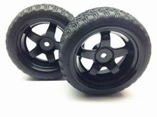 4pcs/set RC 1/10 scale RC On Road Car RC Drift car 12mm Hex Plastic Hub Wheel Rim and Tires Tyres Set HSP 94122 94123(China)