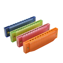 10 Holes Harmonica Diatonic Blues Harp Mouth Organ Key of C Reed Musical Instrument with Case Kids Child Musical Toys(China)