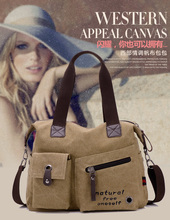 Casual Canvas Everyday Handbag Shoulder Tote Bag Big Shoulder Handbag for men and women