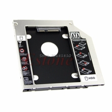 "1PC Universal 9.5mm 2.5"" SATA 2nd HDD Hard Driver Caddy For CD DVD Optical Bay -R179 Drop Shipping"