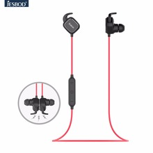 Jesbod QY12 Sport Earphone Headsets Wireless Bluetooth Headphones with Mic Magnet Function Adsorption English Voice Earbuds
