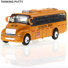 Hot Sale 1:43 American School Bus Pull Back Car Diecast Model Car Toy For Children Kids Early Learing Educational Toy Best Gift(China)