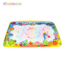 59x36cm Kids Toy Multicolor Rainbow Water Drawing Mat With 2 Pen Aqua Doodle Mat Rug For Painting Toys For Kids Birthday Gift